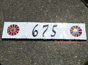 "Address Sign ""675"""